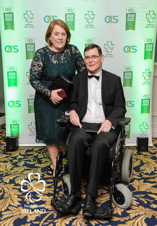 Paralympics Ireland President Jimmy Gradwell and his wife Catherine in attendance at the OCS Irish Paralympic Awards