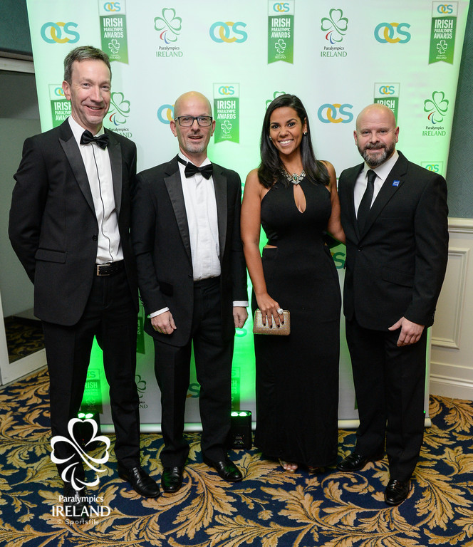 Anthony Shannon, Andrew Watchorn, Tatiana Flores, and Peter Conneely arrive at the OCS Irish Paralympic Awards