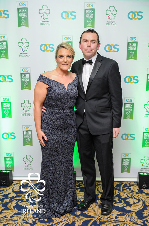 Lisa Kelly and Rory Slevin in attendance at the OCS Irish Paralympic Awards