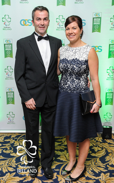Alan and Toni Swanton in attendance at the OCS Irish Paralympic Awards