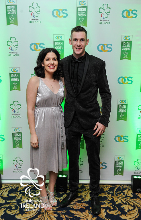 Micheal McKillop and Nicole Martin in attendance at the OCS Irish Paralympic Awards