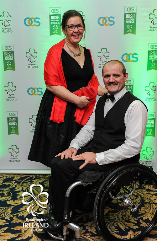 Evelyn and Declan Slevin in attendance at the OCS Irish Paralympic Awards