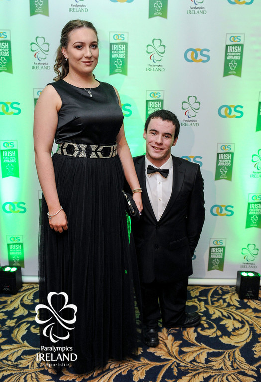 James Scully and Caoihme Reynolds in attendance at the OCS Irish Paralympic Awards