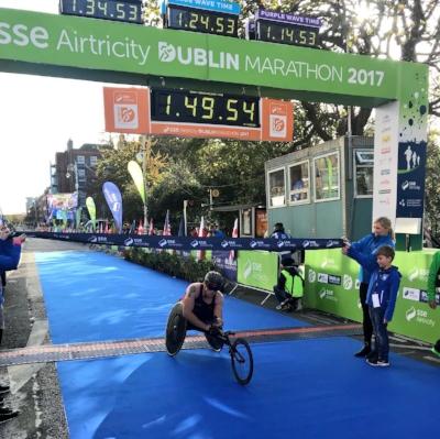 Monahan Crosses the Line to Win the 2017 Dublin City Marathon