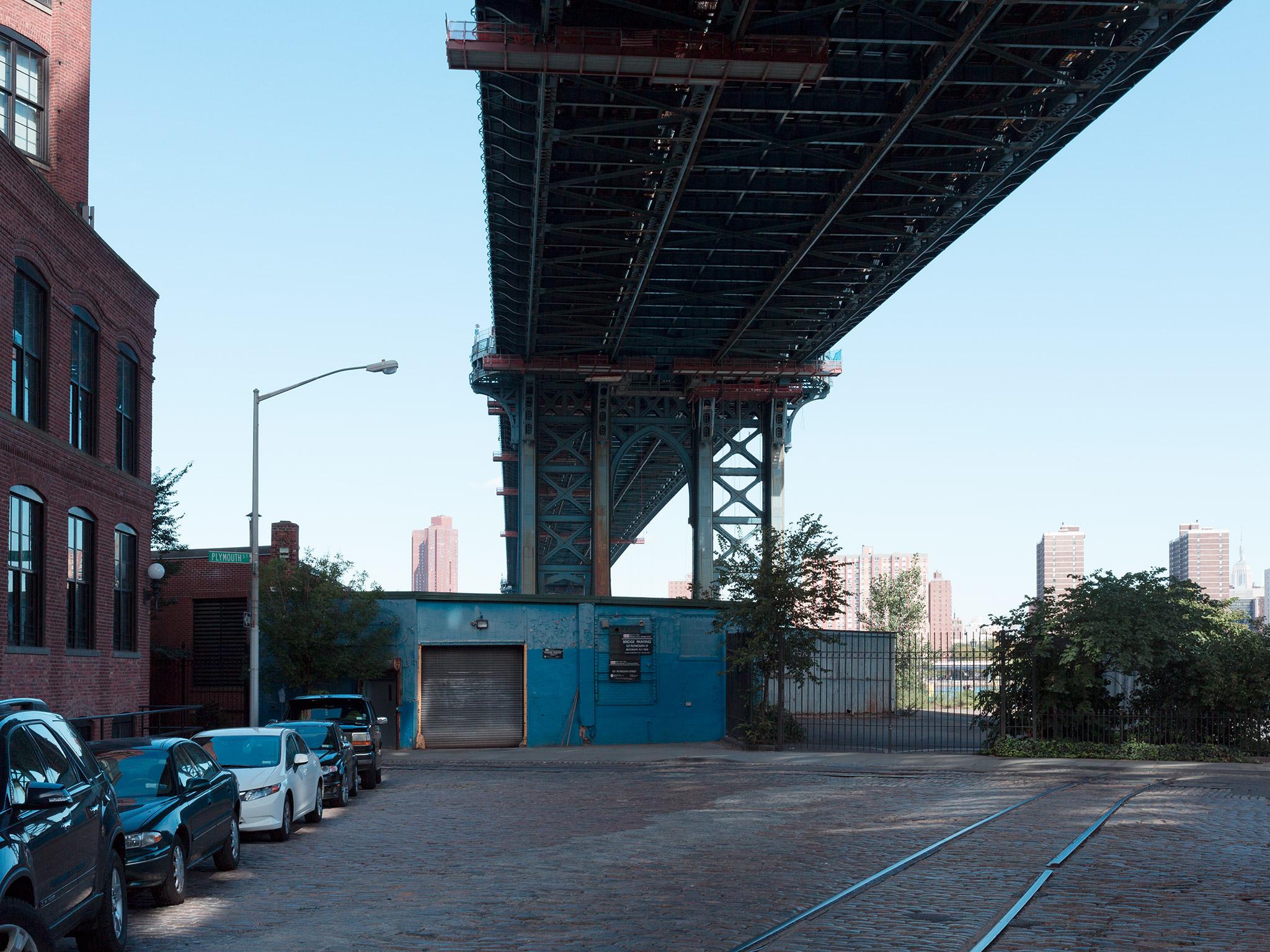 Bridge overhead   DUMBO September 16th, 2012   Adams Street and Plymouth Street  40.703522, -73.988767