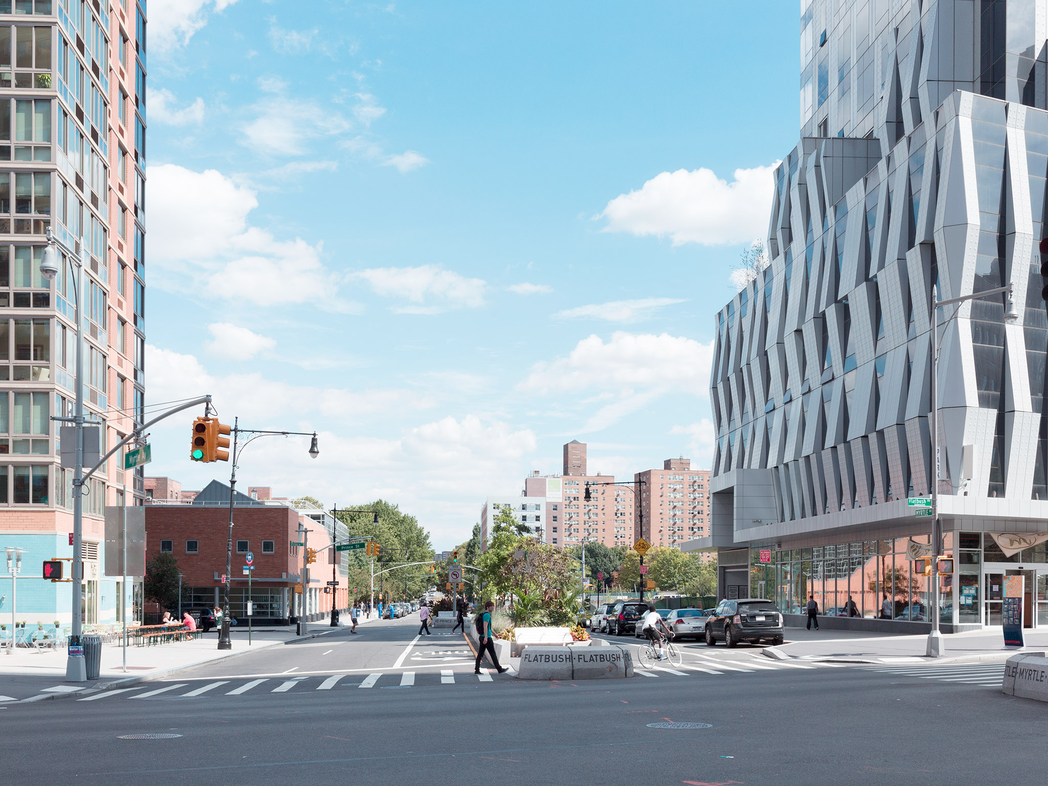 After Construction   Downtown September 16th, 2012   Flatbush Ave. and Myrtle Ave.  40.693658, -73.983523