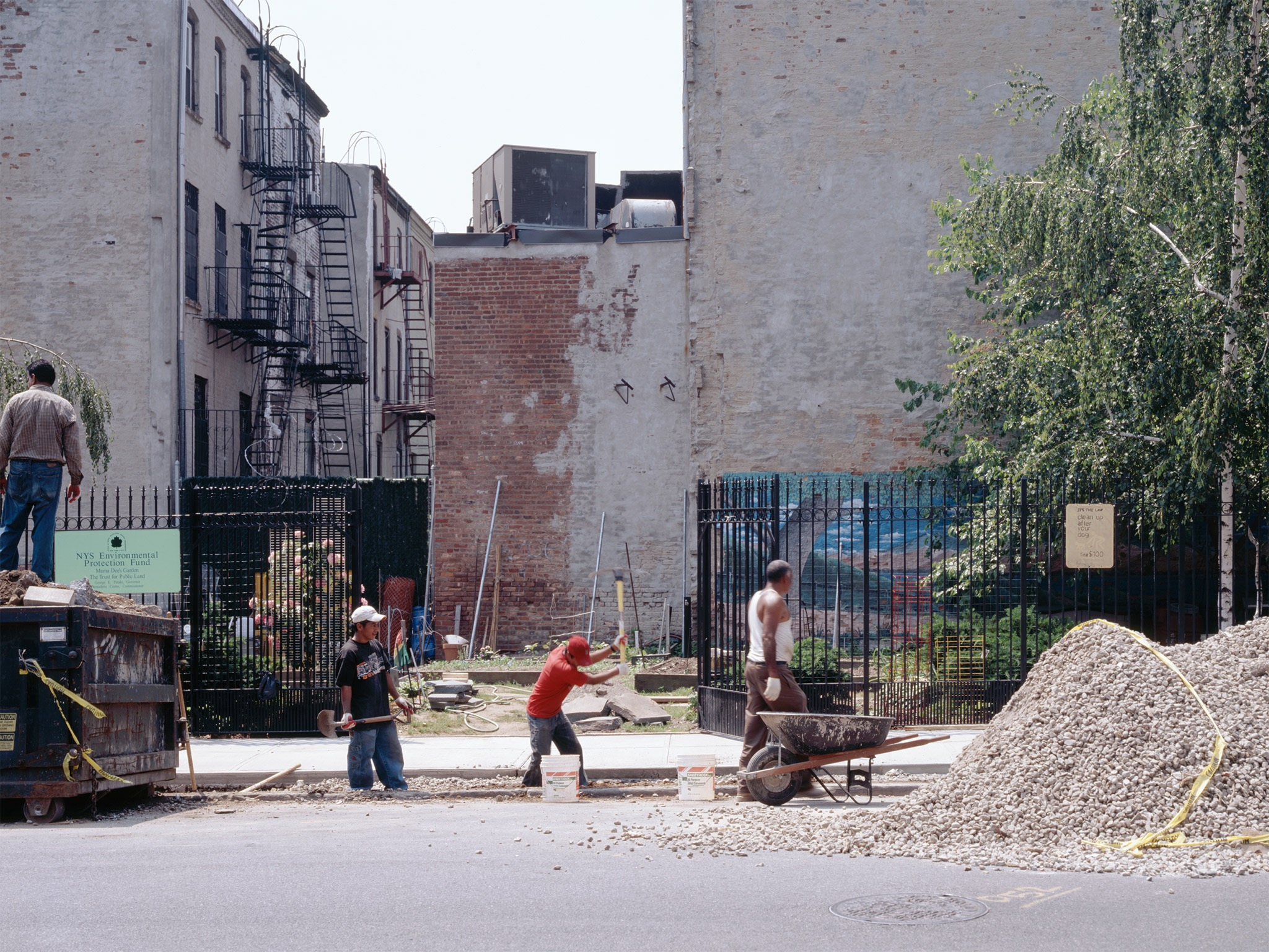 Ditch Diggers   Crown Heights 2006   Bergen Street between Rogers Ave. and Bedford Ave.  40.675394, -73.953043