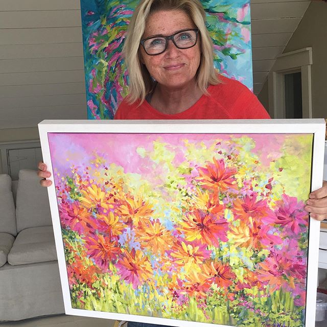 News, shortly about this beauty being in a raffle for a local charity in #dungarvan.  I'll keep you posted.😘 .Sign up for my news events link in bio @brendaharrisart . . . . . #framedpainting  #passioncolourjoy #colourfulartwork #intuitiveartwork #passioncolorjoy #modernpainting #irishart #irishartist #interiordesigninspo #contemporaryartist #colourfulpainting  #interiordesignideas #irishartists  #summercolour #summerart #brendaharrisart  #ihavethisthingwithcolour #colourventures  #irishpainter #acrylicpainting #artvision #paintingprocess #artsanity #creative_art #irishgarden