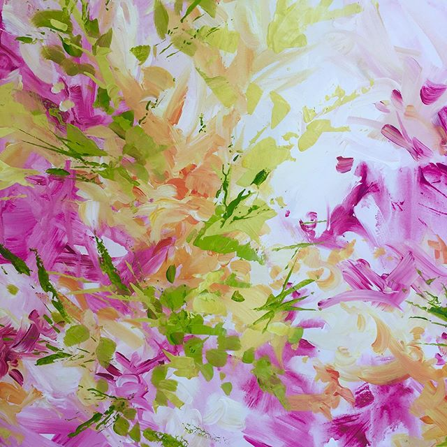 Holding onto 'Summer Colours.'. . . . . #inthepink  #passioncolourjoy #colourfulartwork #intuitiveartwork #passioncolorjoy #modernpainting #brendaharrisart #irishpainter #irishart #irishartist #contemporaryartist #interiordesigninspo #interiordesignideas #colourfulpainting  #summercolour #summerart  #ihavethisthingwithcolour  #acrylicpainting  #artsanity #creative_art #irishgarden