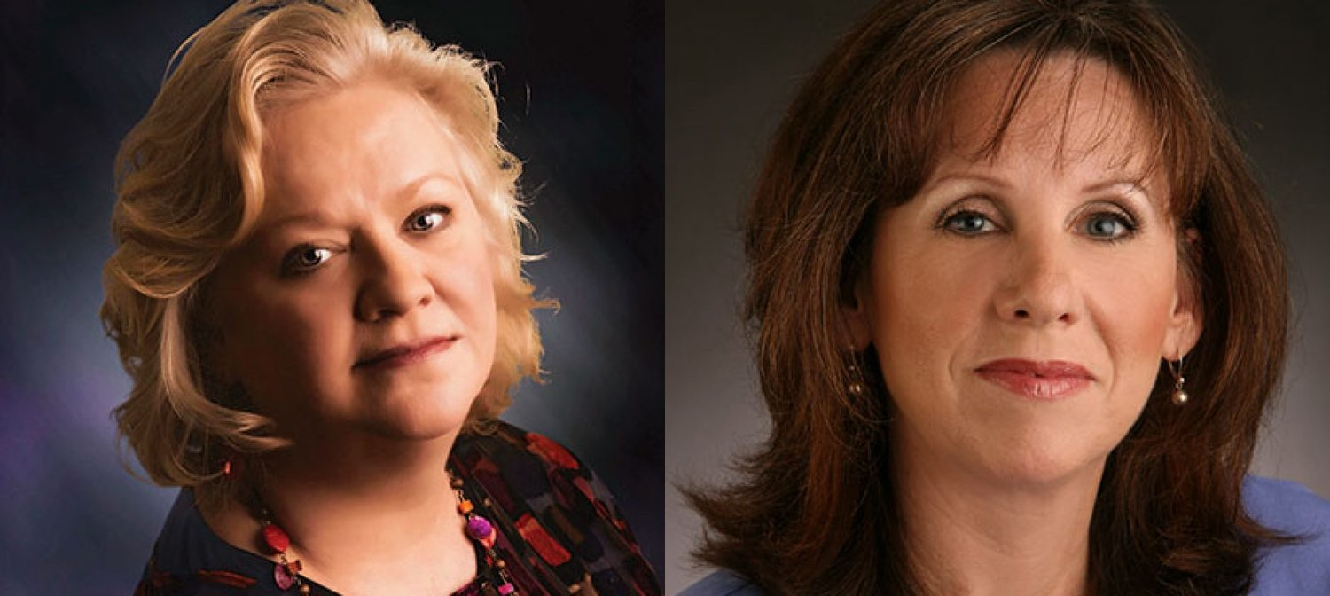 Corporate Communications Experts: Rebecca Theim (left) and Stephanie Nora White (right) .