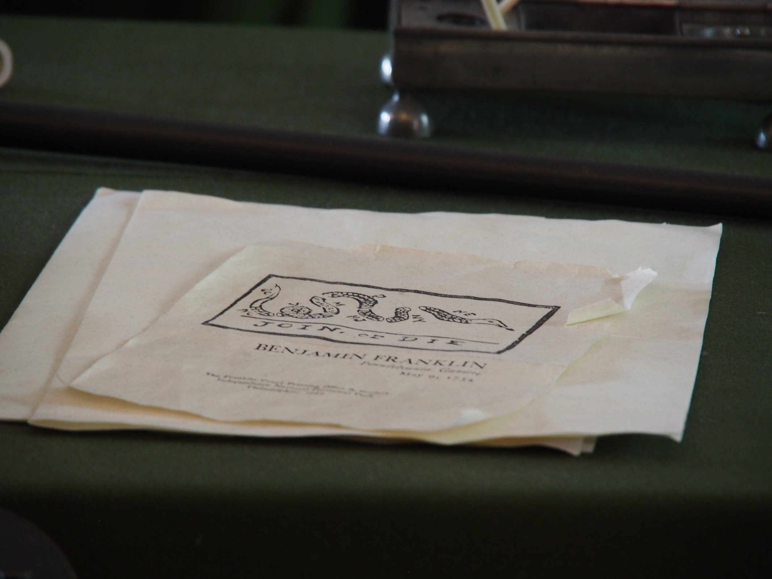 Example prints from Ben Franklin