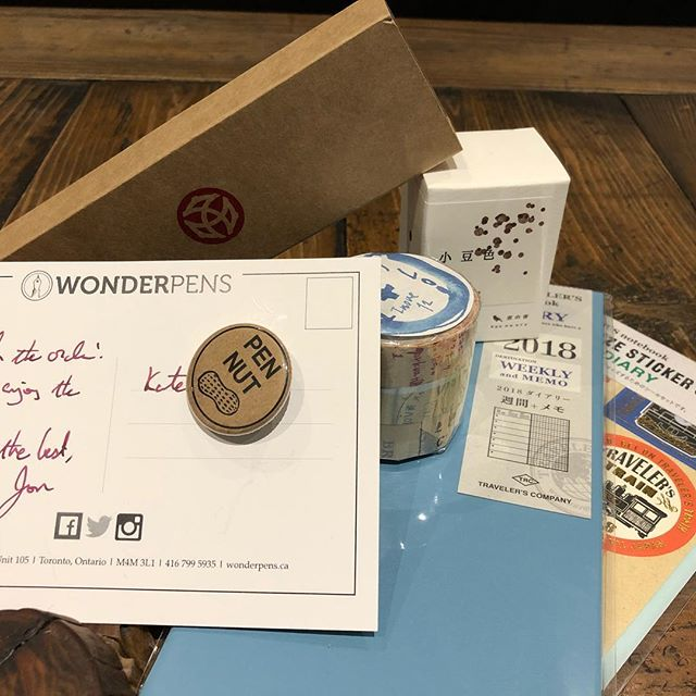 From 🎅. 🧡@wonderpens PEN NUT button #happymailday #penaddict #stationery #stationeryaddict #fountainpen #fountainpenaddict