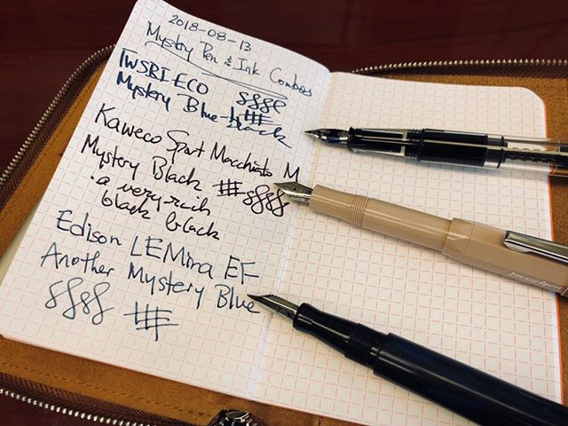 What happens when you find a stash of pens still inked up from who-knows-when with who-knows-what ink. #penaddictproblems #mysteryink #fountainpens #guesswhatink #penhygienefail