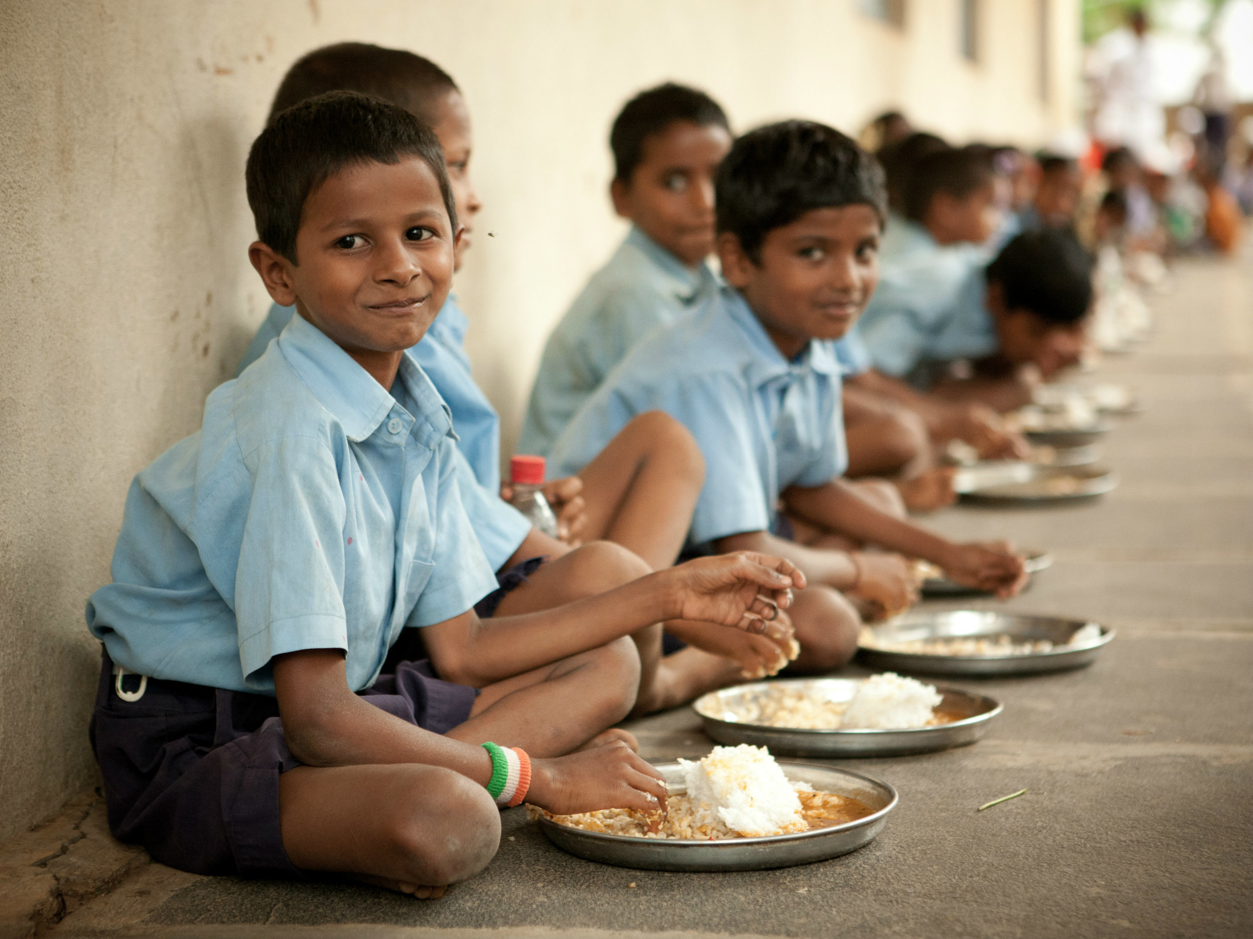 Classroom hunger affects children's ability to learn and grow. To solve this challenge, Akshaya Patra began the Food for Education initiative which is continuously making an effort to feed children from over 13,000 schools in India.