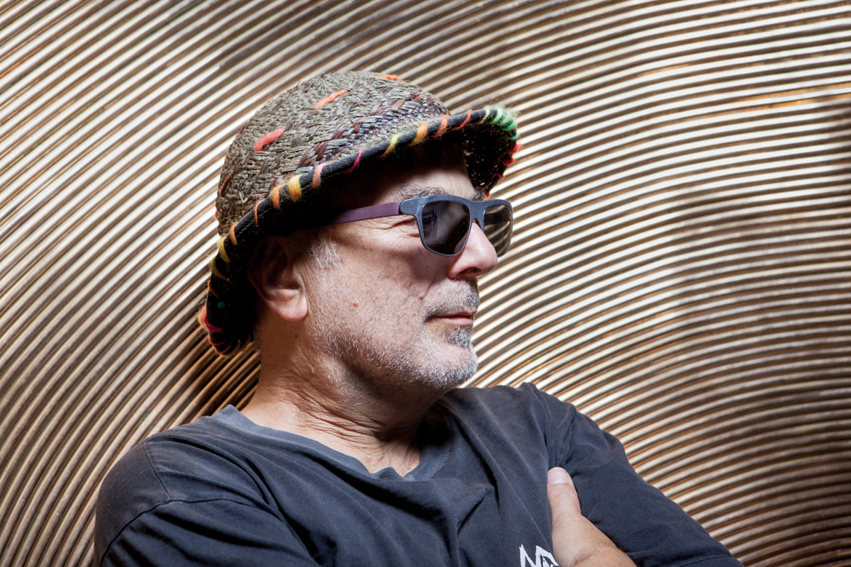 A portrait of Ron Arad from earlier this week