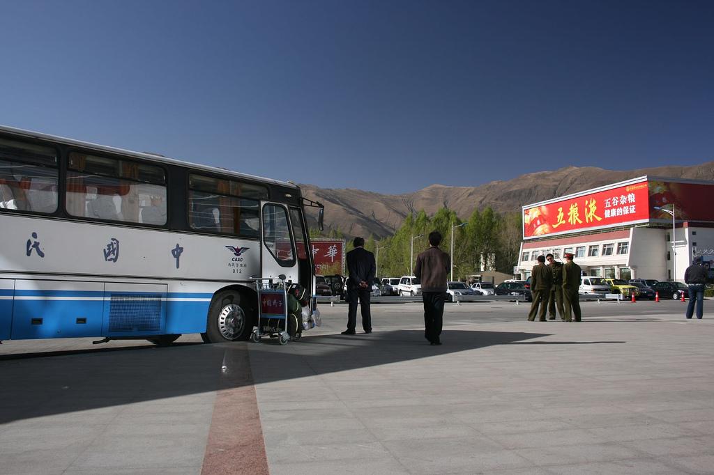 Bus, Lhasa Airport, Tibet