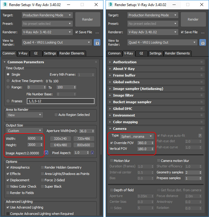 V-Ray Settings