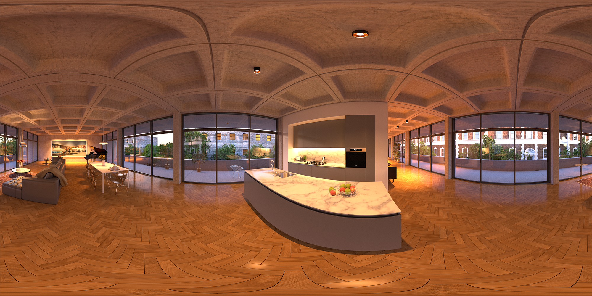 360 Image for Facbook created with 3DS Max and Vray