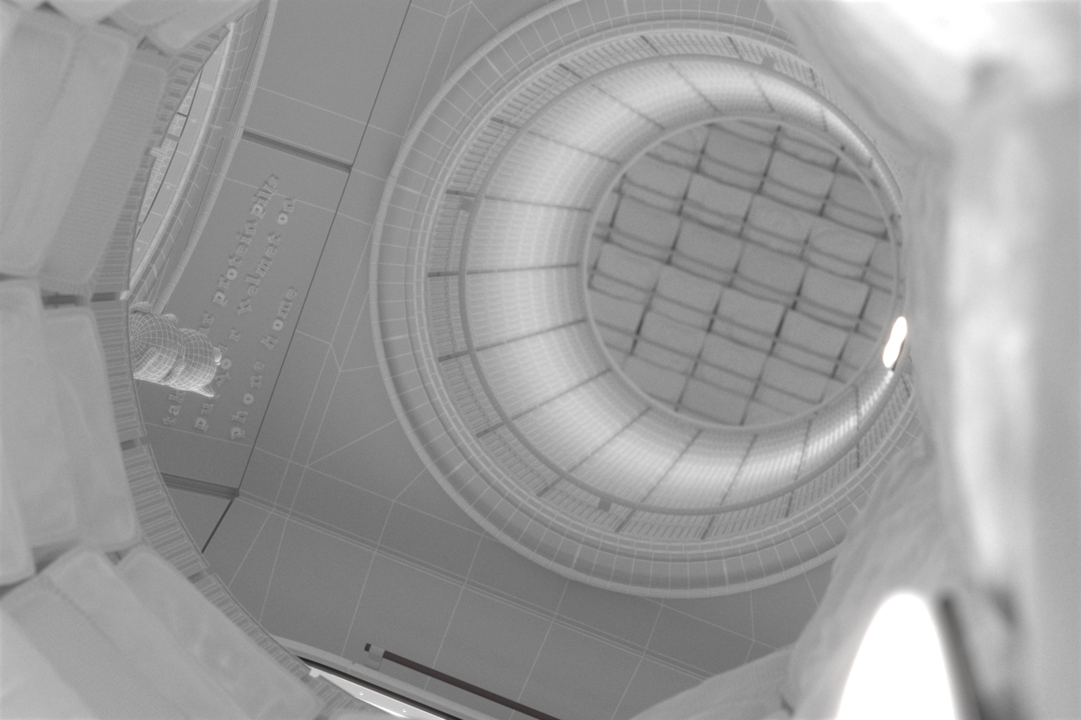 The model of the space station without textures