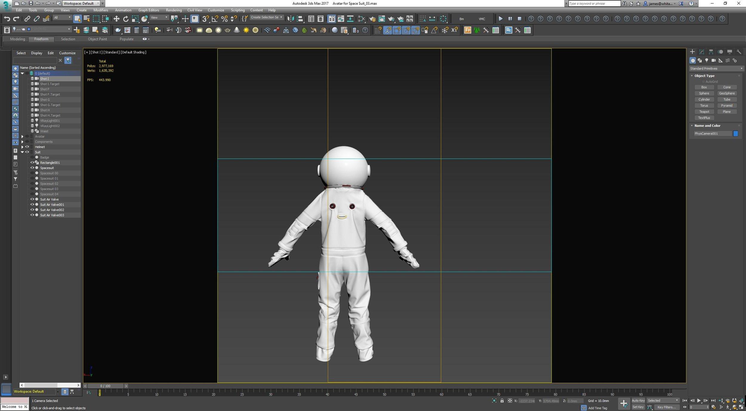 Screen grab of Space Suit Development