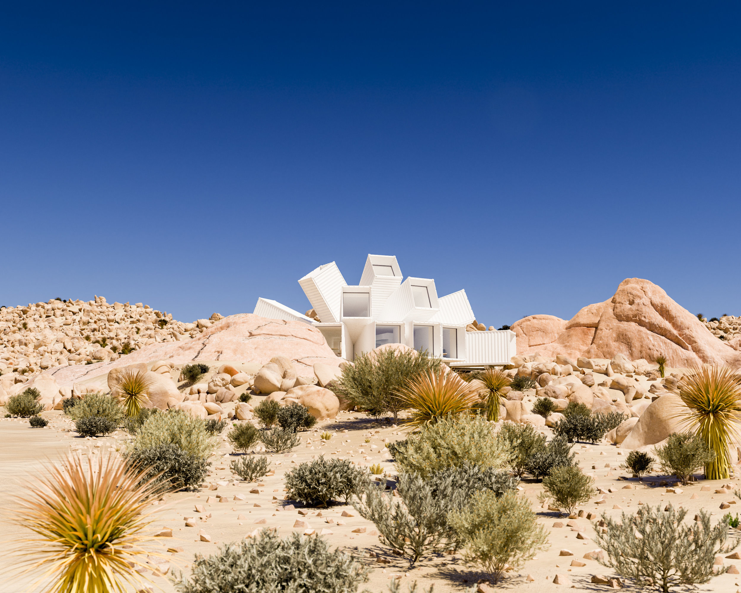 Whitaker Studio visualisation of Joshua Tree Residence