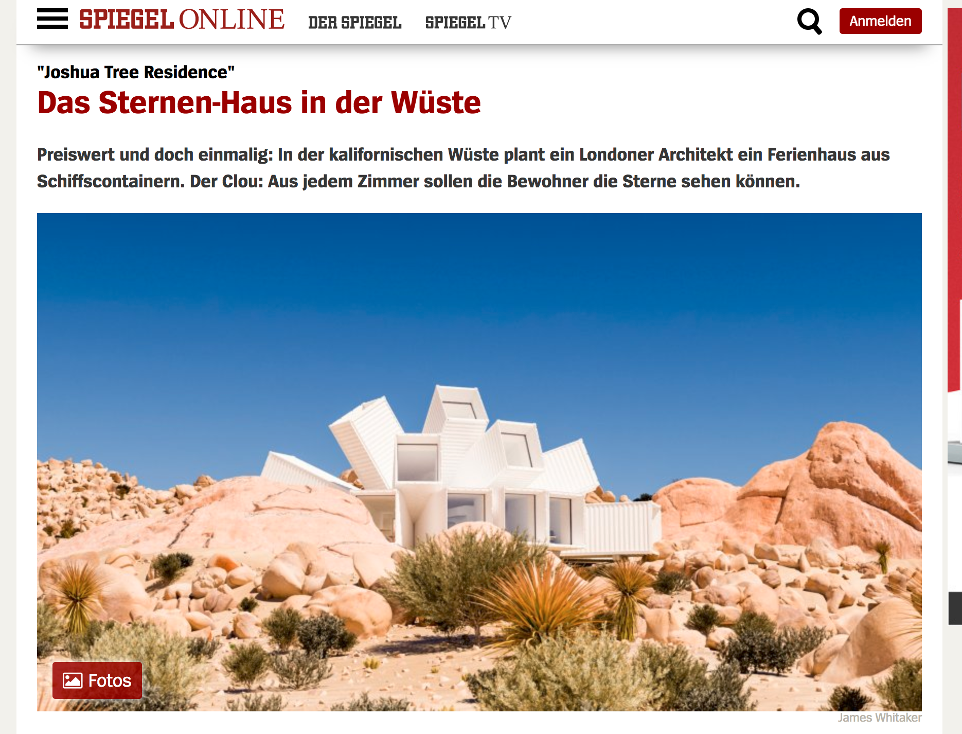 Whitaker Studio on Der Spiegel