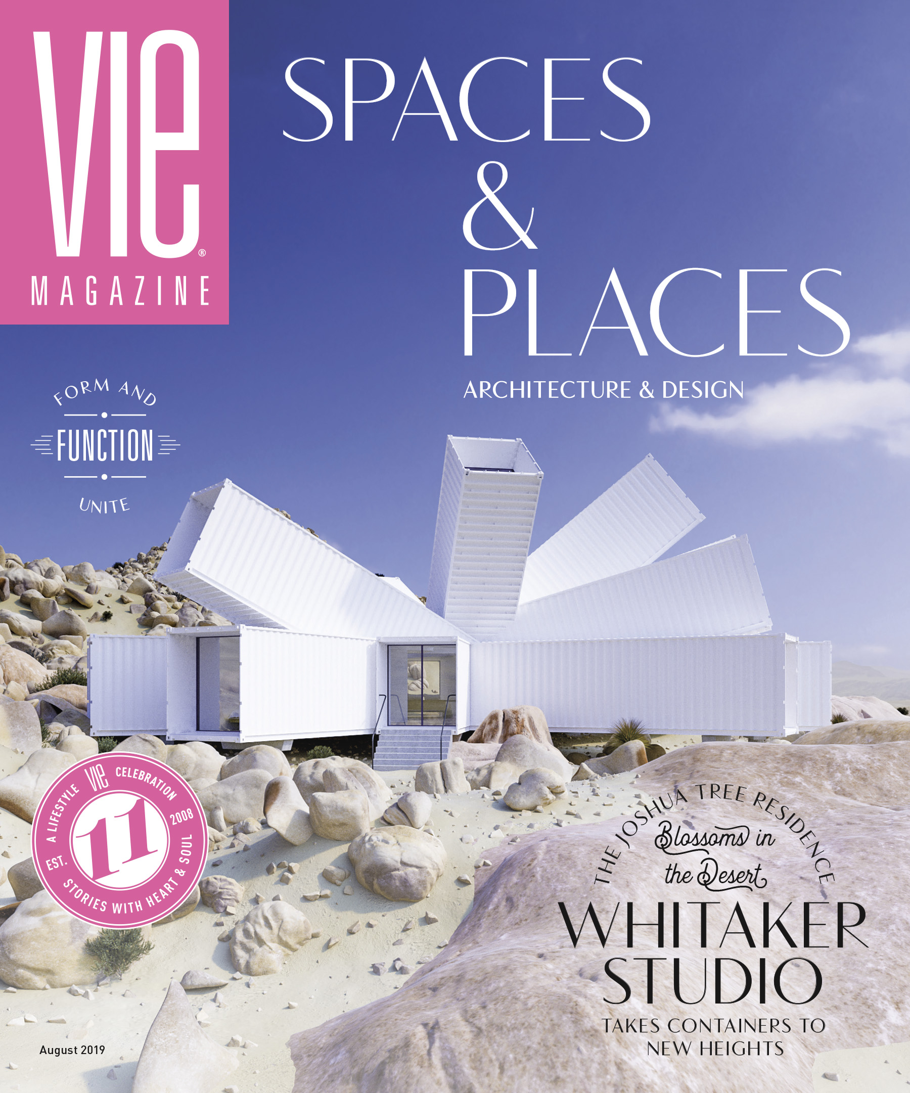 Whitaker Studio on front cover of Vie Magazine