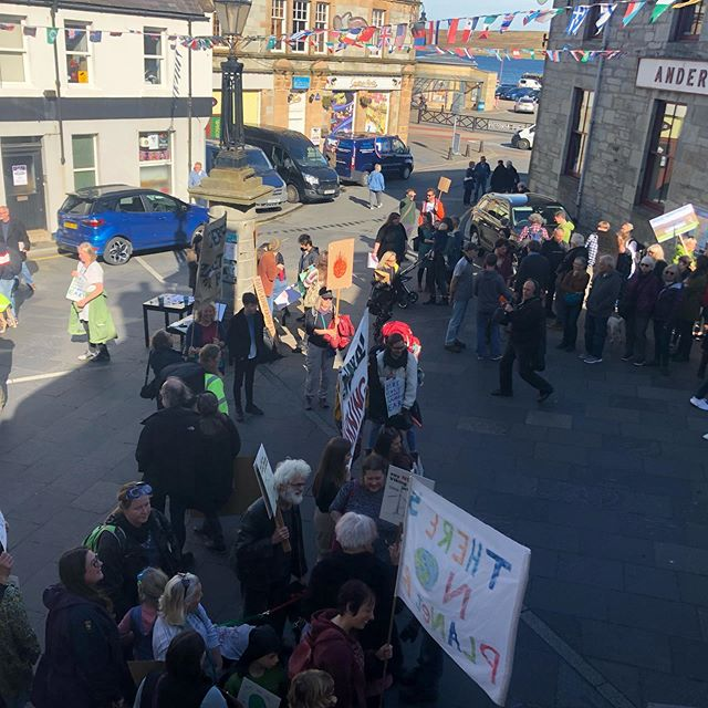 """There's no planet B..scenes from a chocolate shop here in Shetland at the Market Cross, Lerwick..awesome 🌎 """"dirs only wan midder eart"""" #climatechange #climatestrike #awareness #makeachange #lerwick #shetland #islandlife"""
