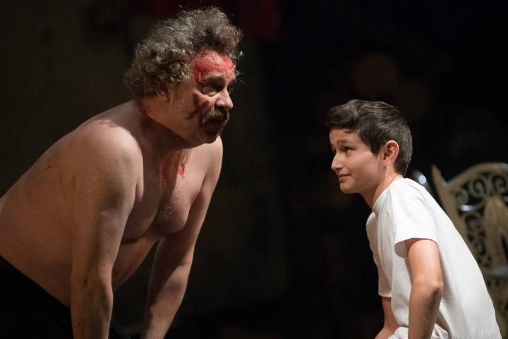 """Scott Ransome as Johnny """"Rooster"""" Byron and Sebastian Ross as hi son Marky in Jerusalem - photo by Vish Sharma"""