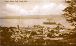 An early view of Fish Creek and the harbor