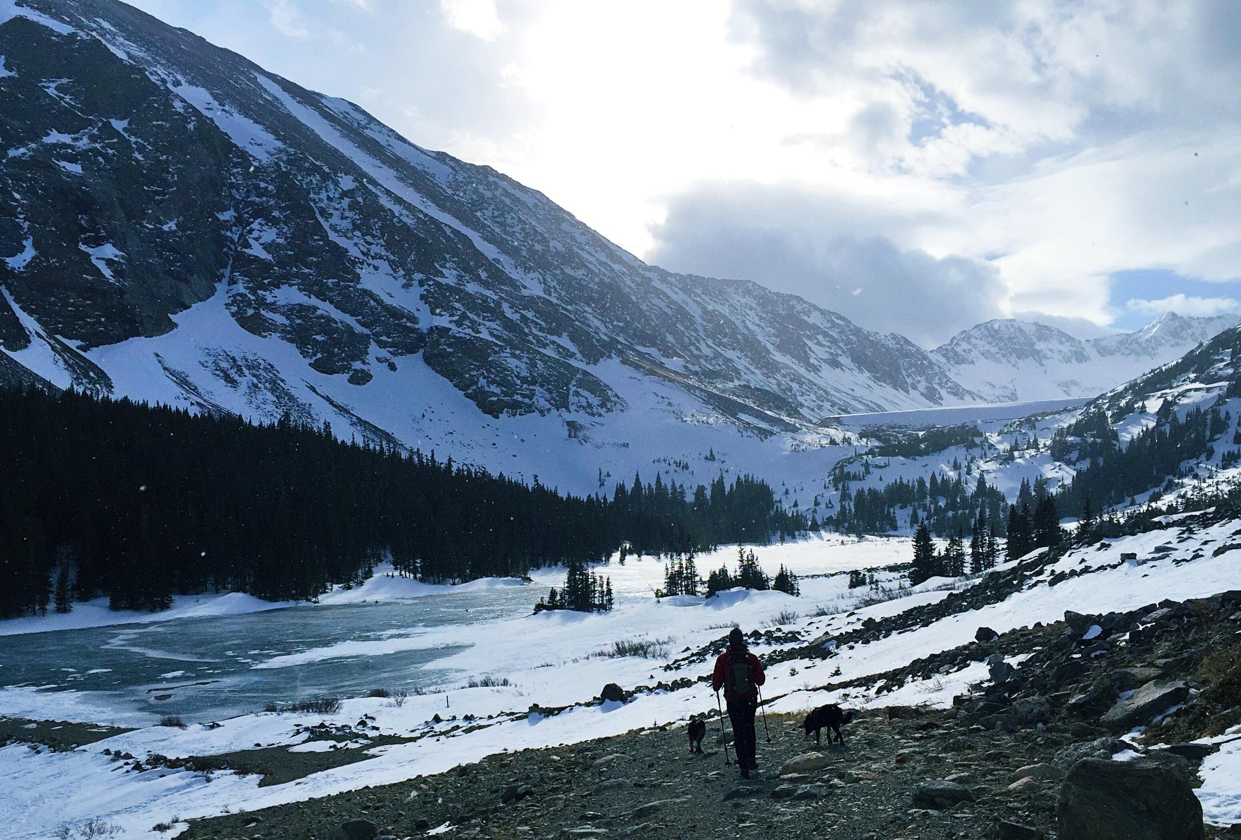 warm up hike near Hoosier Pass.