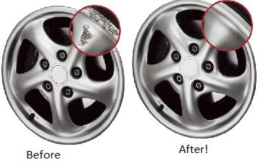 Curb scraped rims - good as new!