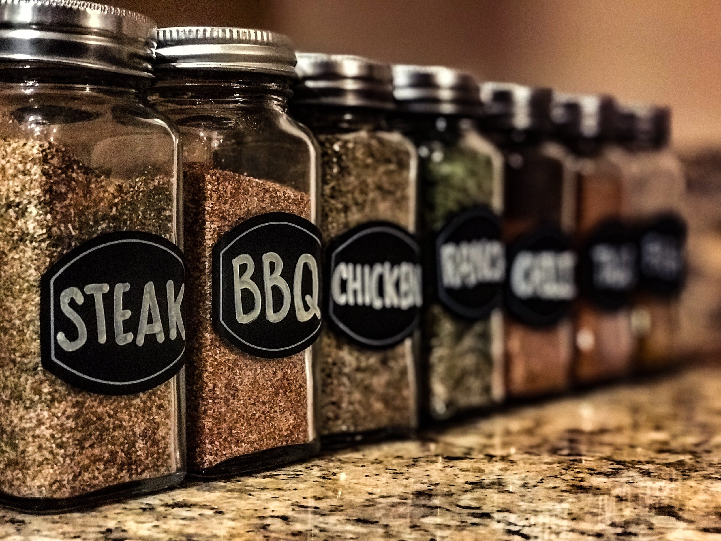 CHOOSE YOUR SEASONINGS! -