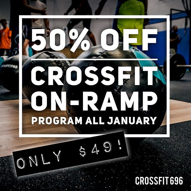 Tag a friend! Sign up now online and activate anytime this January or February! #crossfit #crossfit696 #onramp