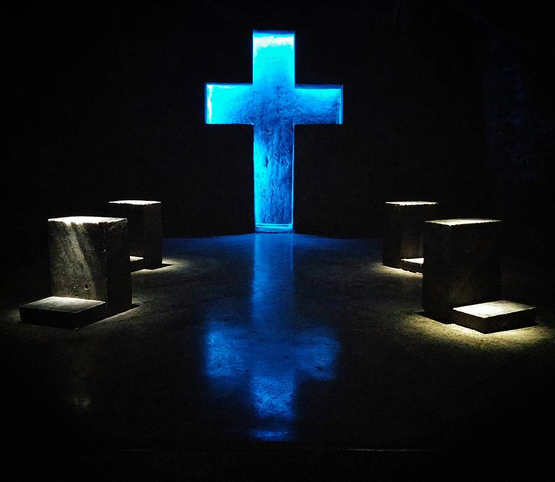 We visited the Catholic Salt Cathedral at Zipaquira, and were absolutely blown away by the massive architecture. Every cross was unique, and described a new aspect of the Crucifixion.
