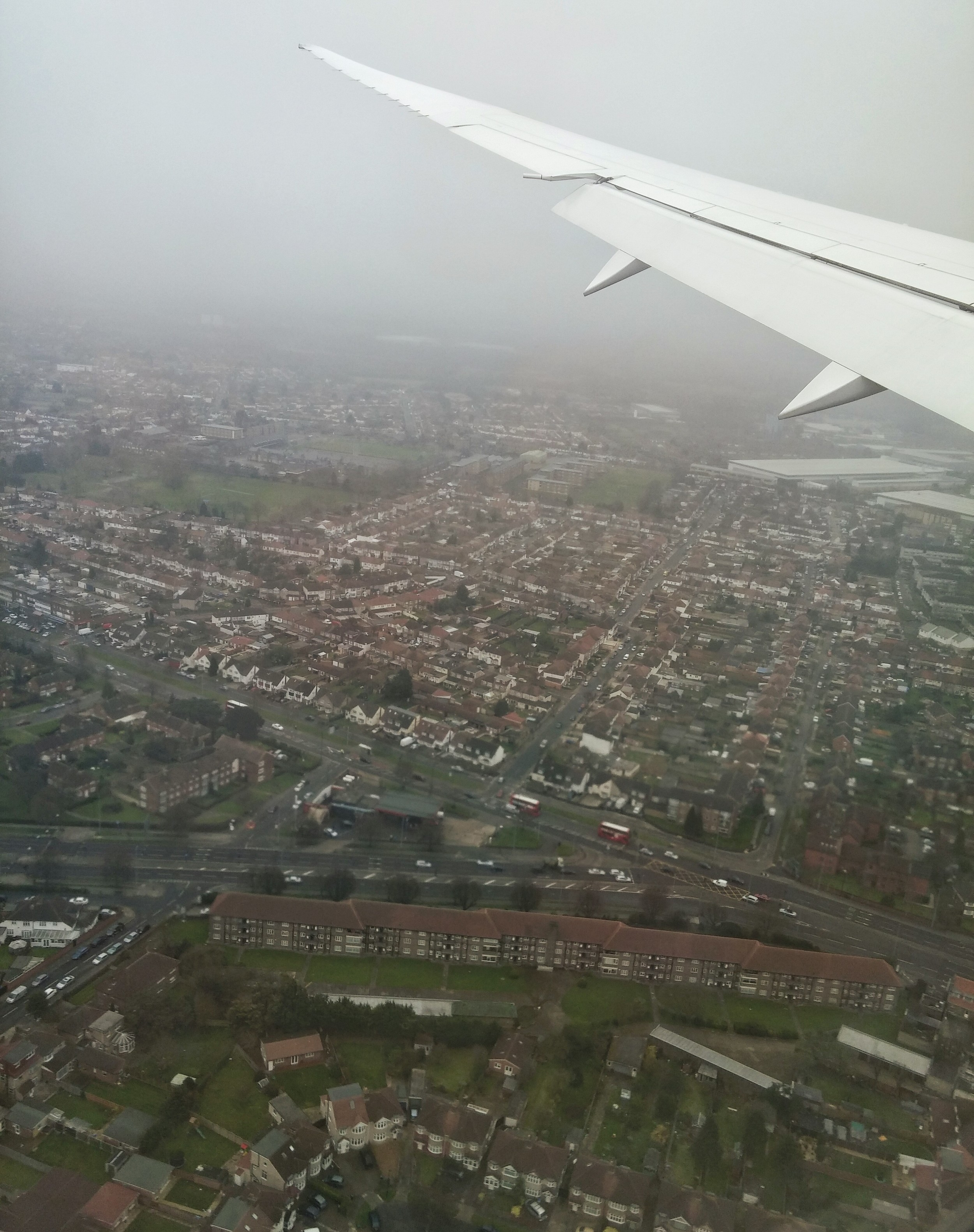 This is what the quaint homes of London look like from above. The mist and fog and gray was exactly how we'd imagined it would be.
