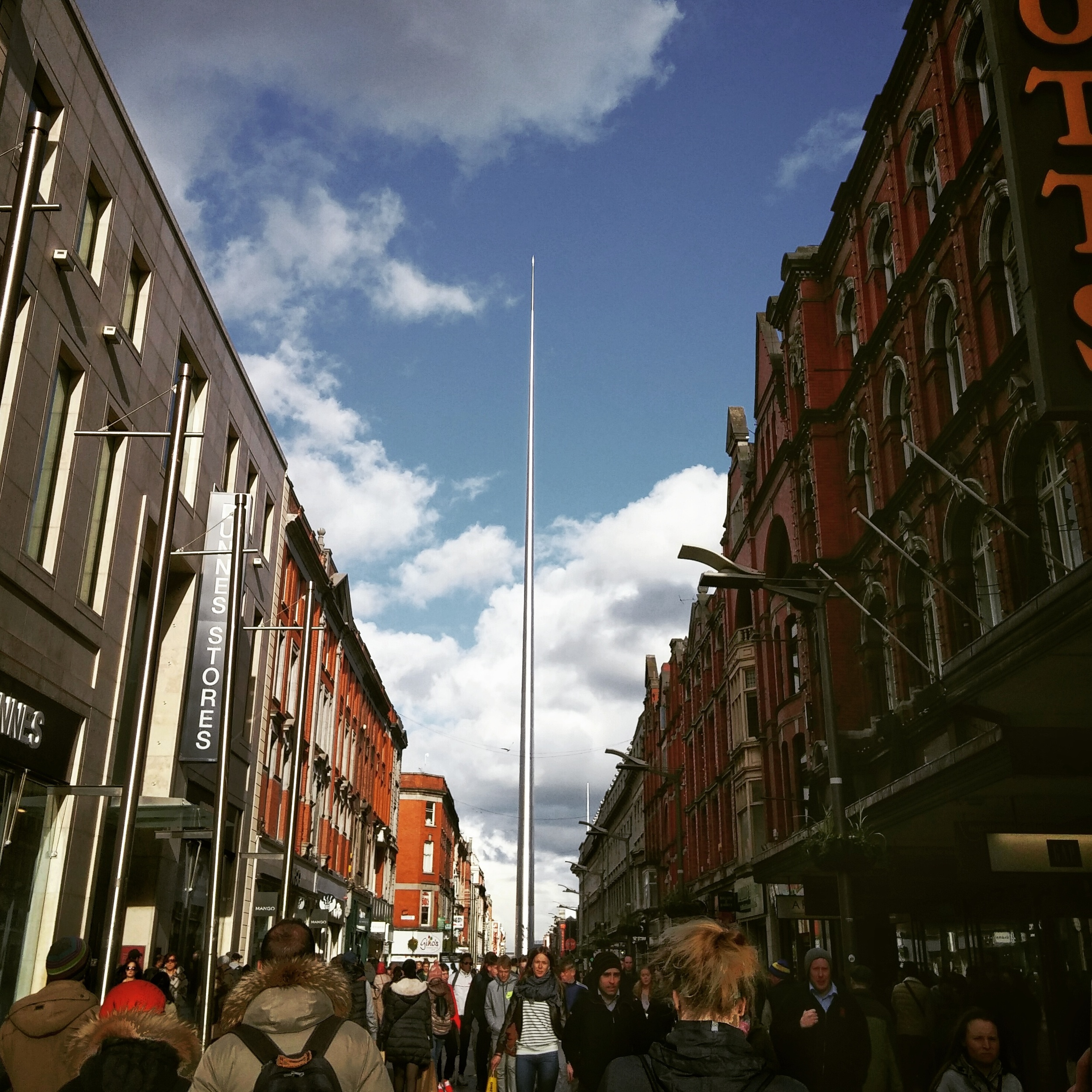 The Dublin Spire, (locally known as the  Stiletto in the Ghetto ) was our reference point during our marvelous time in the capital city.