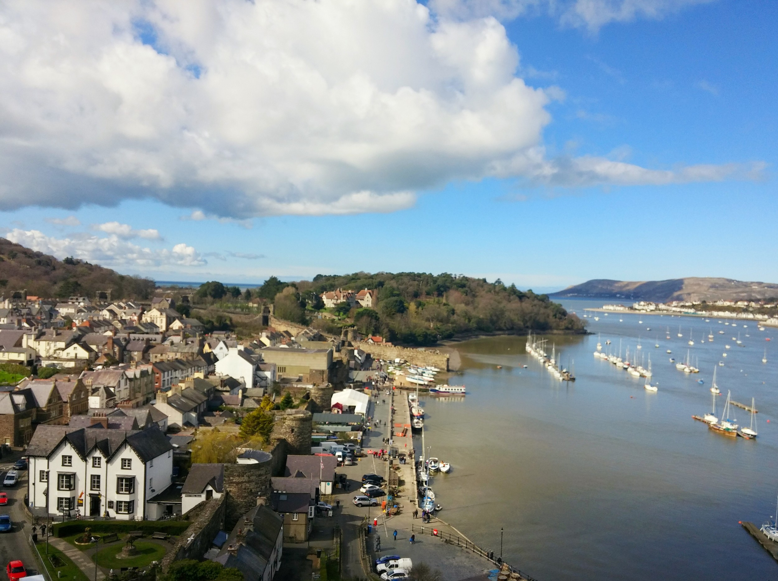 The view of the bay from the towers of Conwy Castle