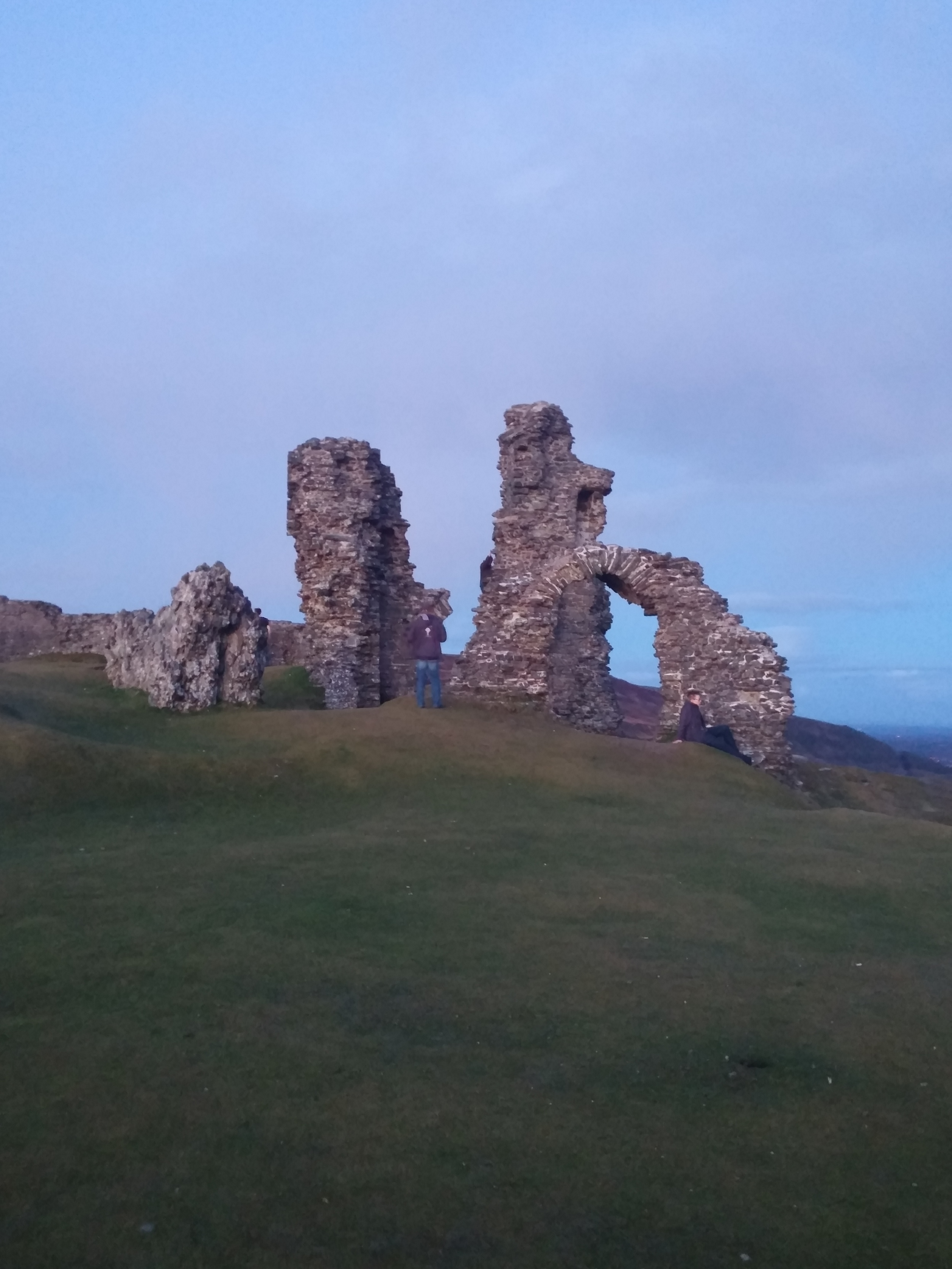 On the spur of the moment, we took a brisk hike to the 800-year-old ruins on top of a mountain in Llangollen during our stay in Wales. Here is what remains of the once majestic castle.