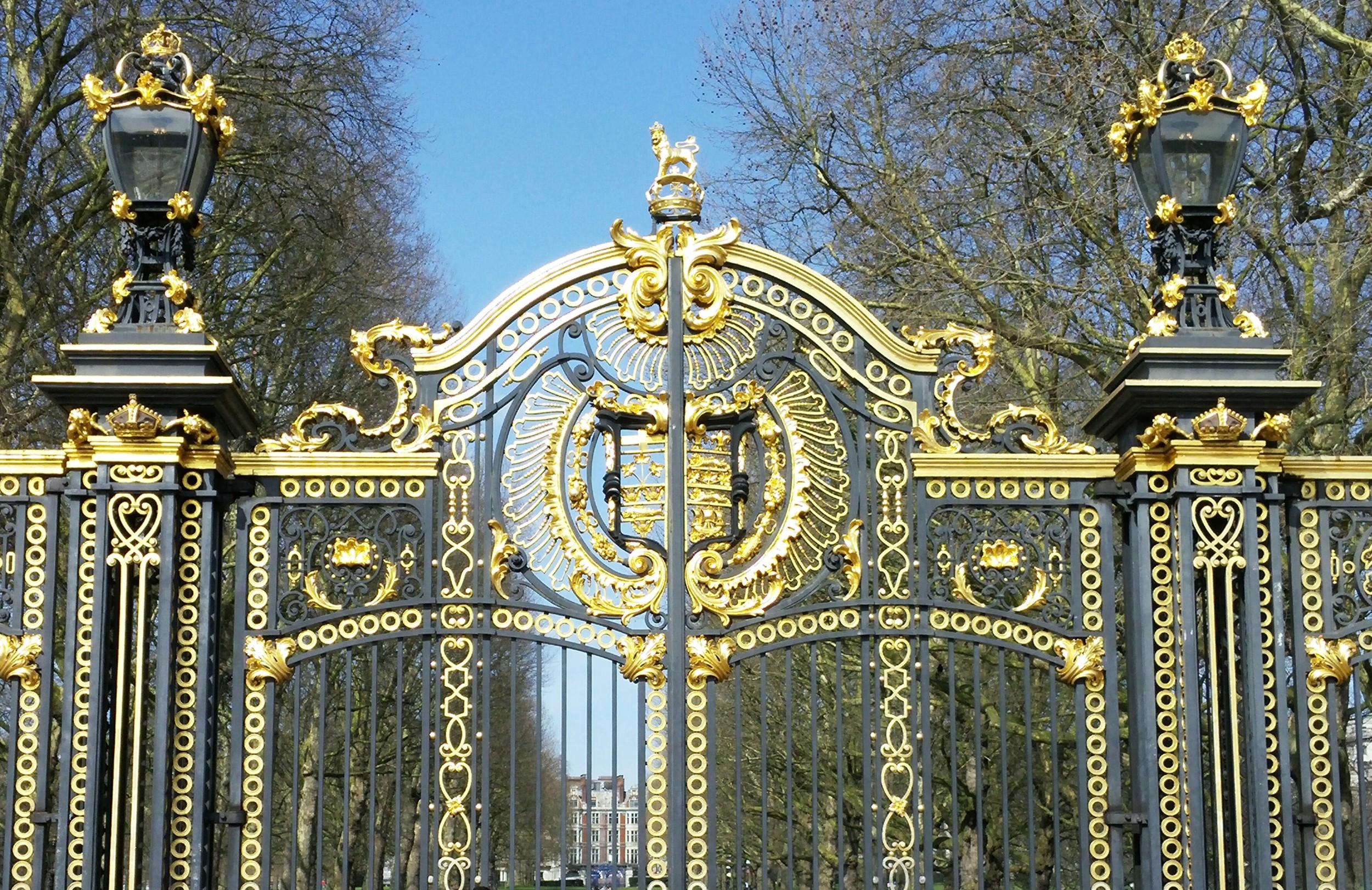 The Canada Gates at Buckingham Palace.
