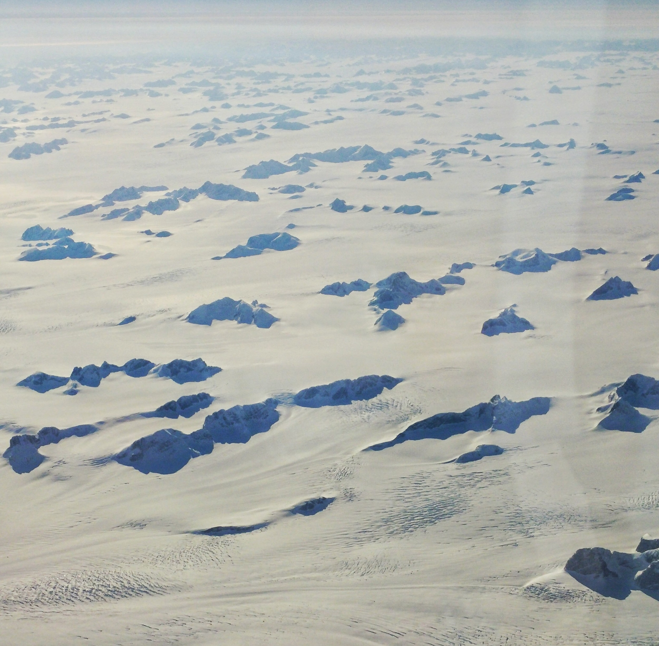 Looking down on Iceland during our flight back to the Western Hemisphere.