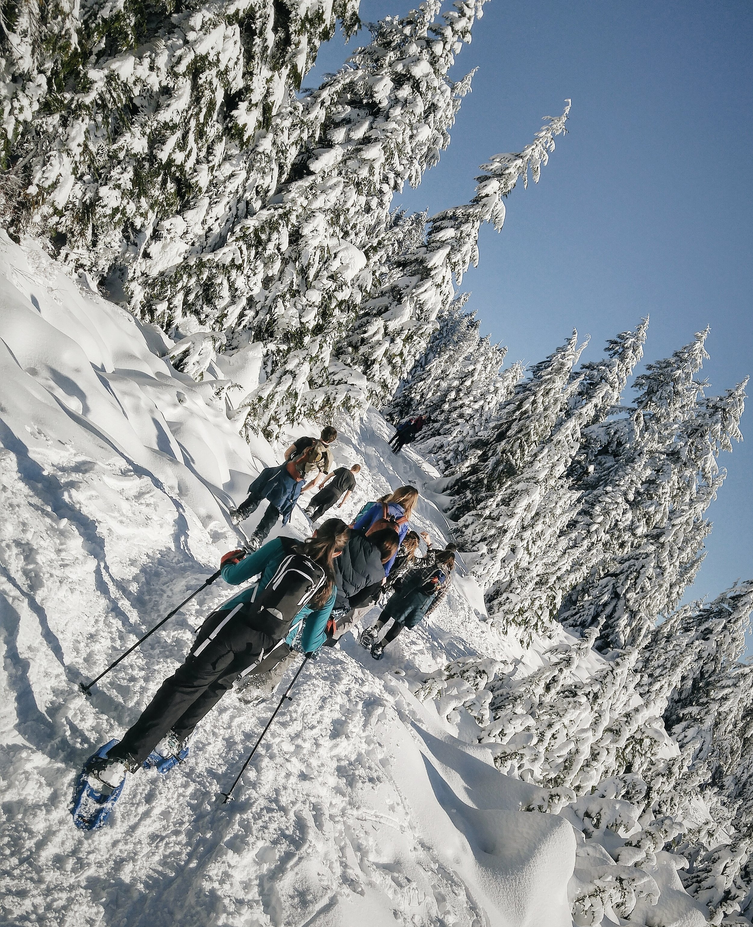 In no time at all, winter was upon us, and mainland British Columbia got the brunt of it. Our Outdoor Club chose to make the most of the weather, and planned a number of snowshoeing escapades.