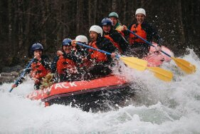 I had been rafting once before this trip, but this was FAR more wild. My friends were being tossed out of the rafts left, right, and centre!