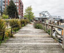 A little-known boardwalk along the Inner Harbour in Victoria.