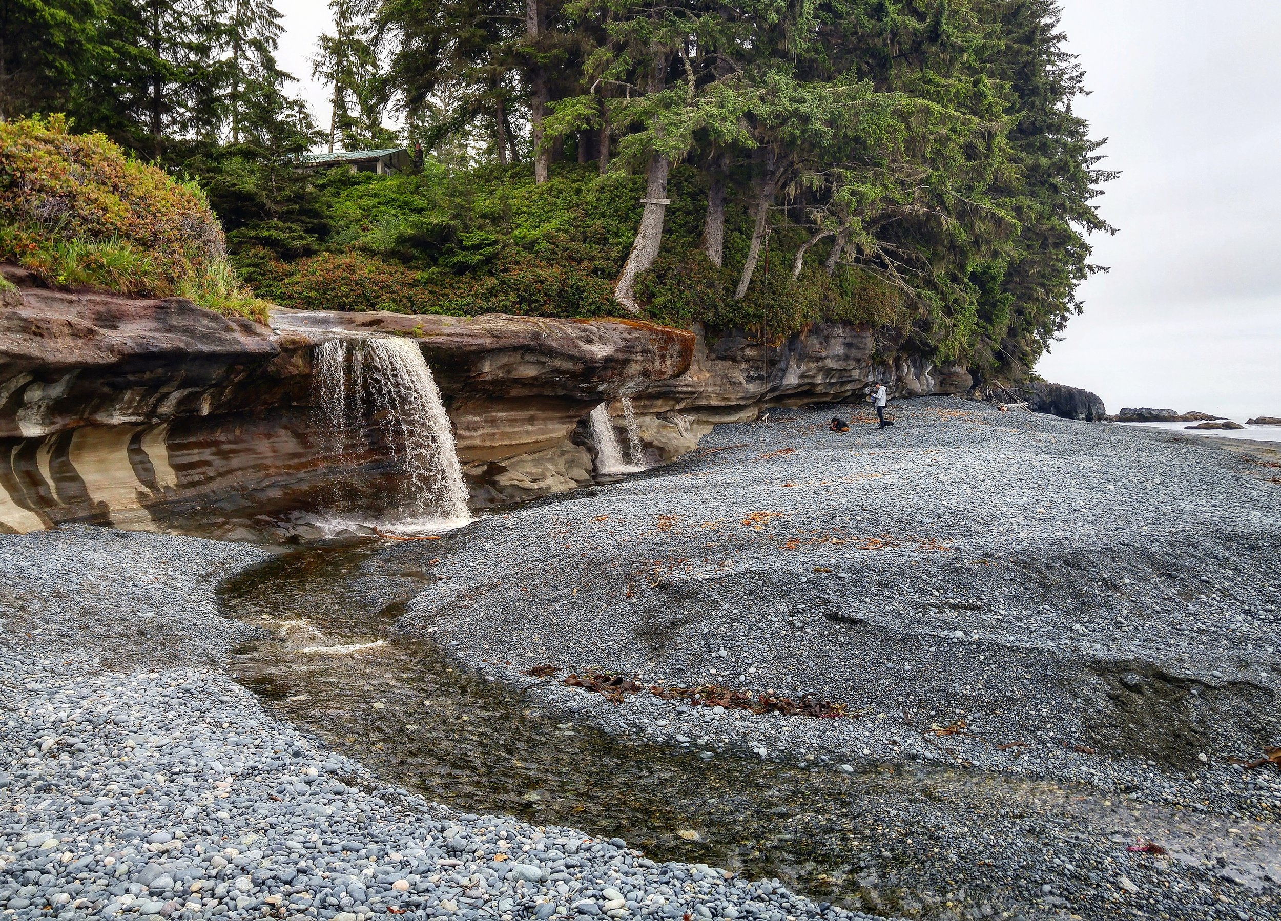 Sooke Road, which meanders North along the West Coast of the Island, is littered with absolute gems like this spot- Sandcut Beach.