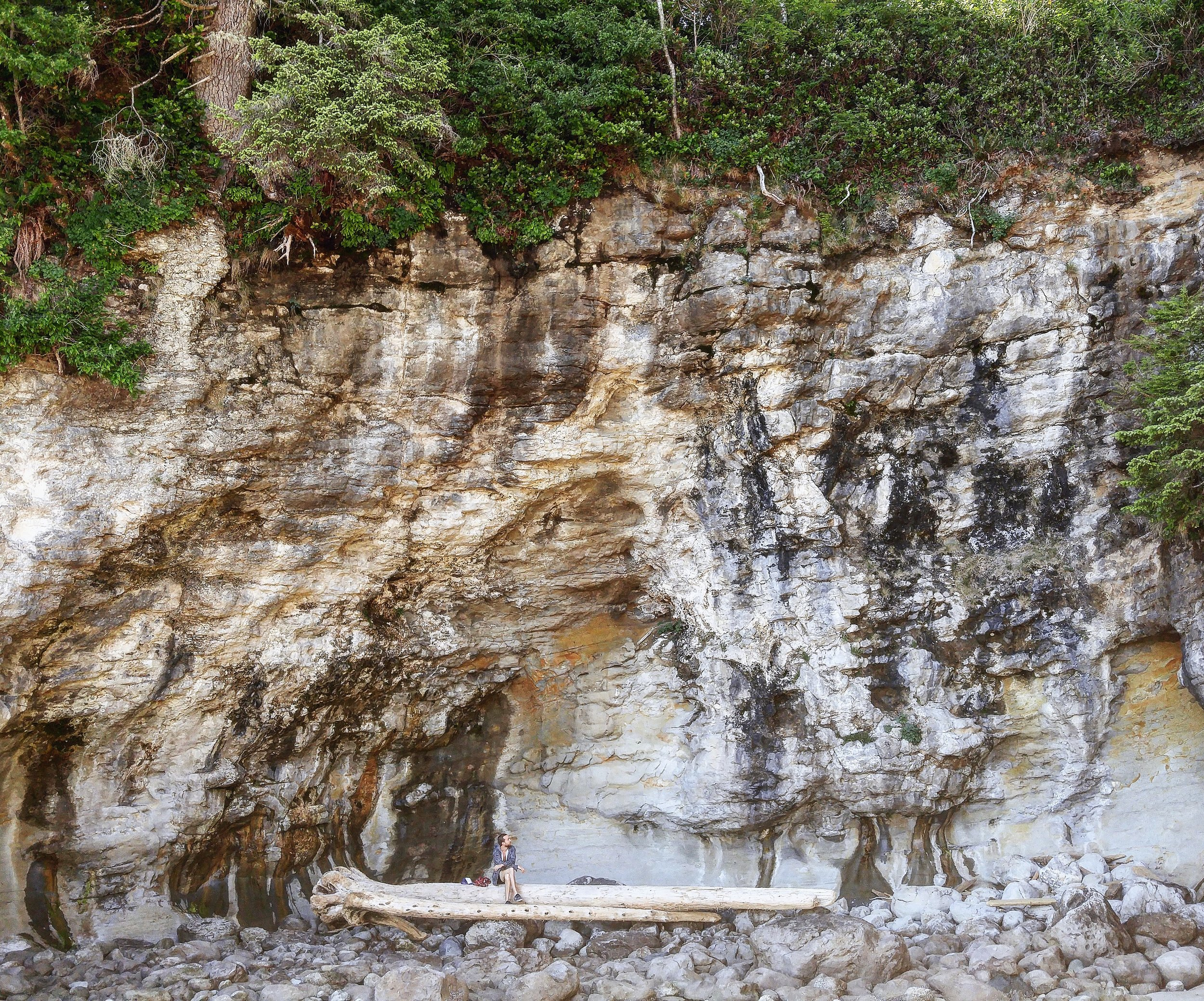Where's Waldo? (This giant wall of rock is a lot bigger than you might think)