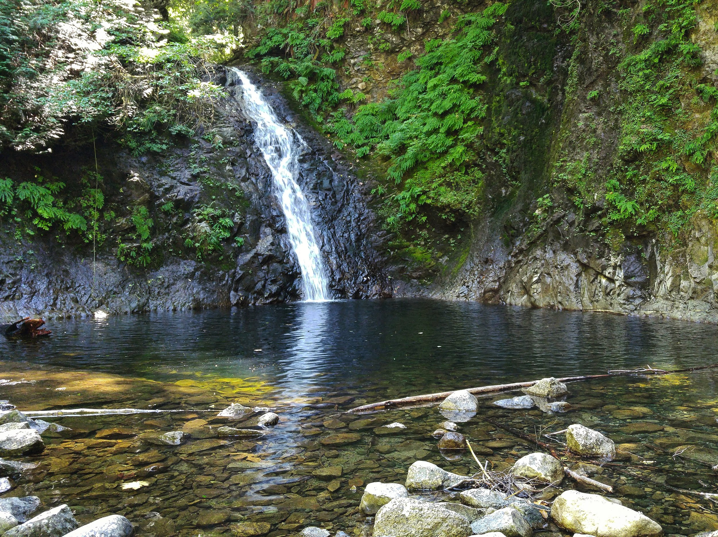 A secret mountain pool. It's quite a hike to get there, and quite a shockingly cold swim, but a purely magical place.