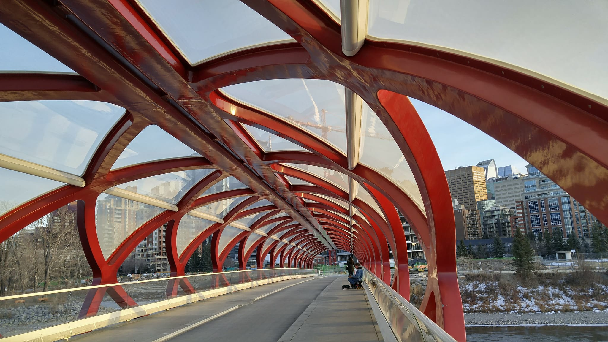 The Peace Bridge- one of the most iconic sights of Calgary