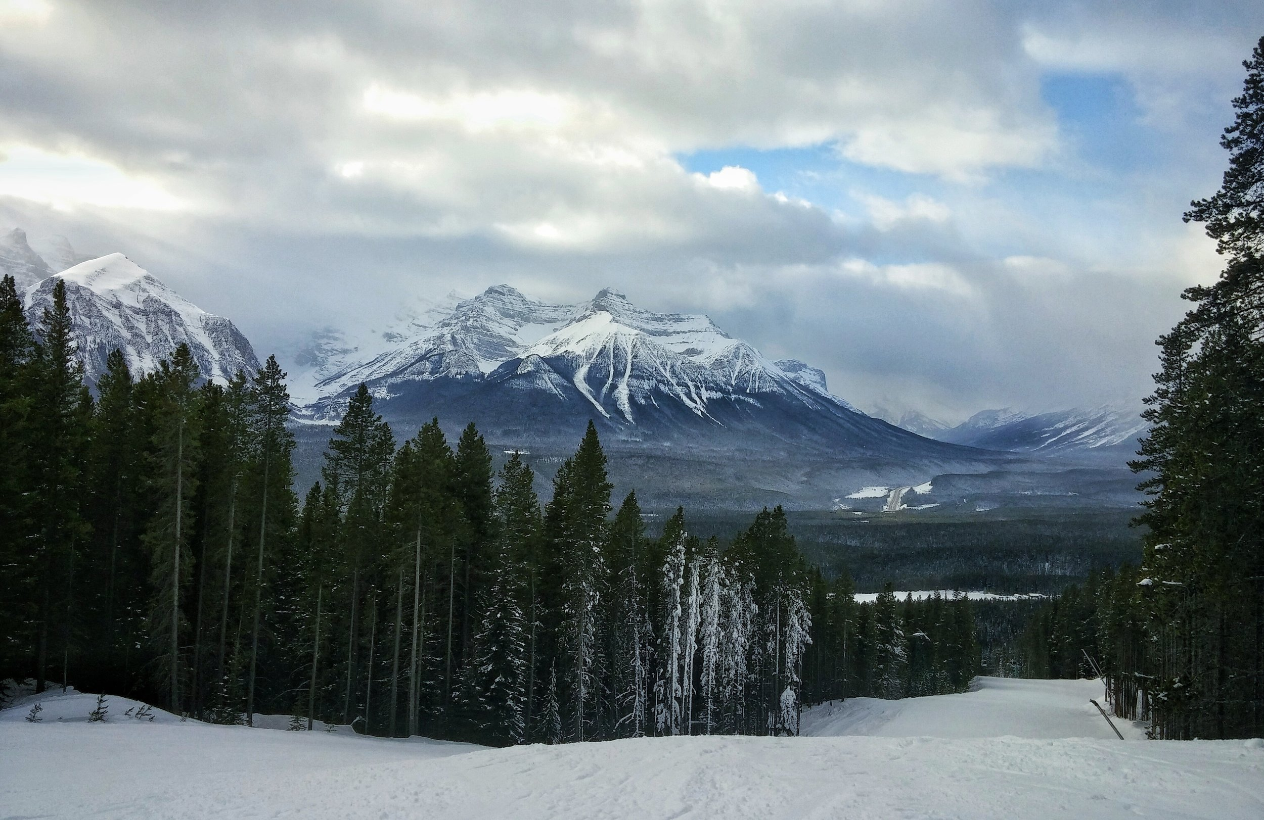 The ski hill at Lake Louise is one of the most popular winter destinations.