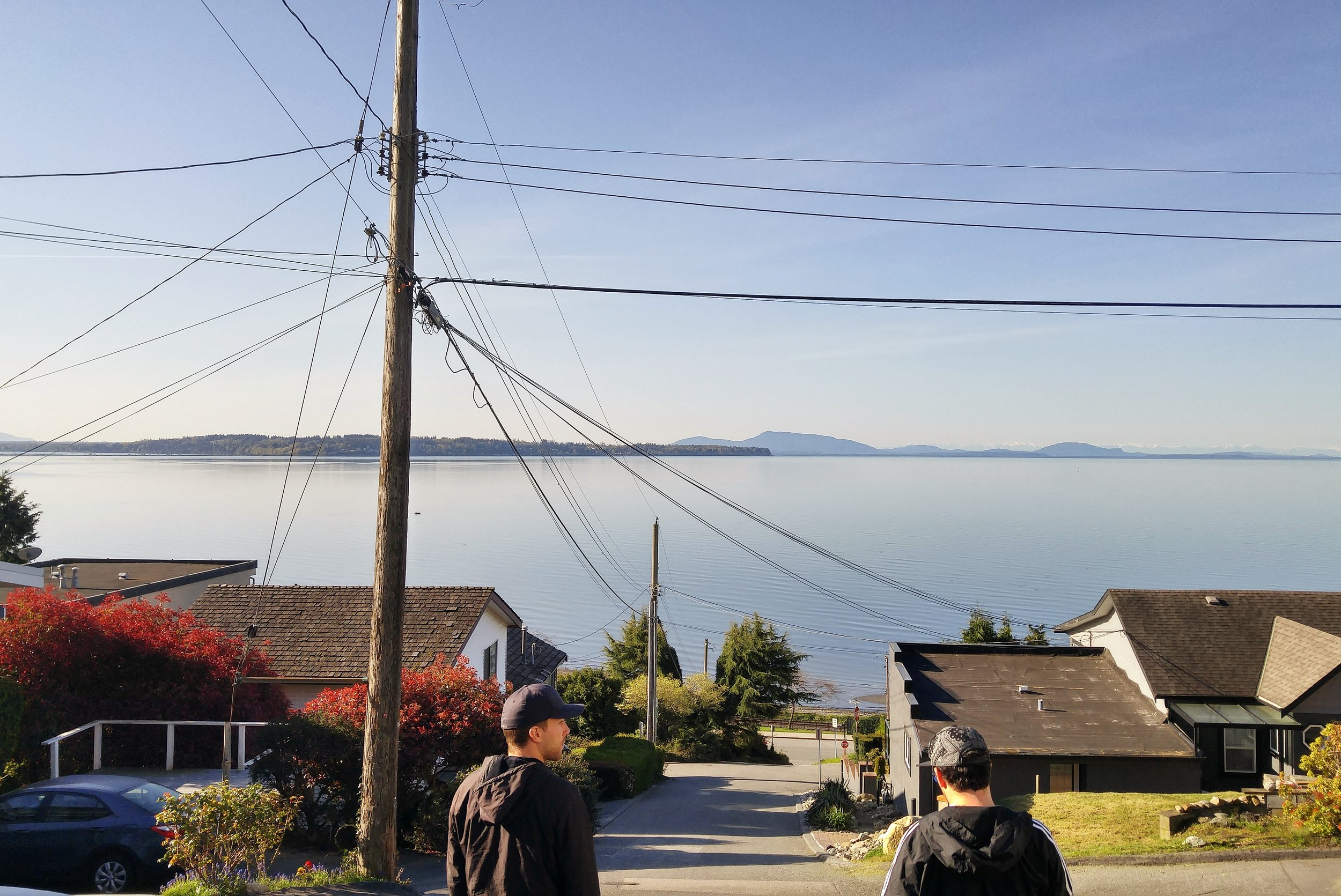 White Rock, BC is not on the Island, but right on the coast of the Mainland. It's a beautiful oceanfront town built right onto a cliff. The walks are steep and difficult, but the view makes it so worth it.